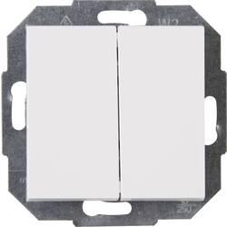 Kopp vestavný dvojitý vypínač ATHENIS čistě bílá (RAL 9010) 587529082