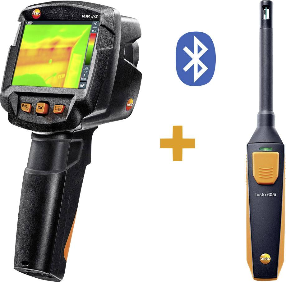 Sada termokamery testo 872 KIT s teploměrem s vlhkoměrem testo 605i