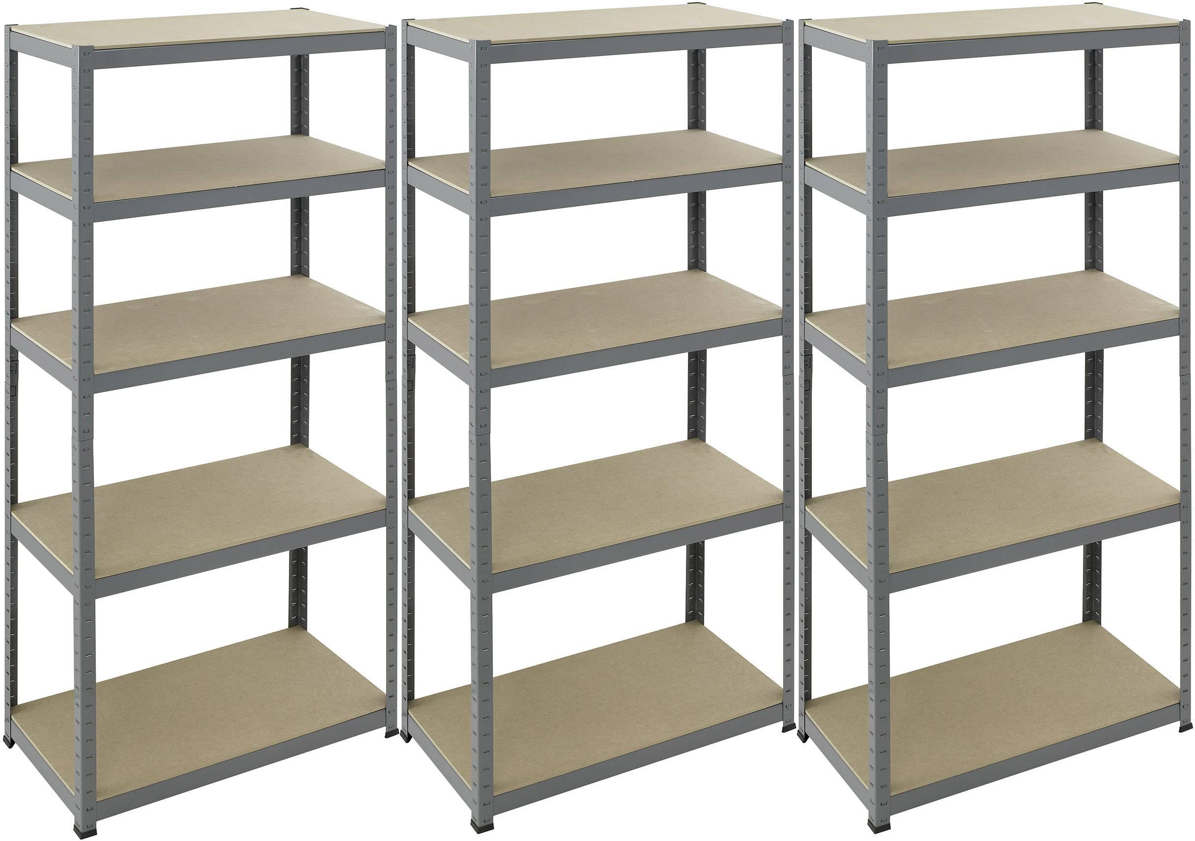 Regál na těžké předměty pro-bau-tec® 10074, (š x v) 900 mm x 1800 mm, Zatížitelnost (dno) 265 kg, práškově lakováno