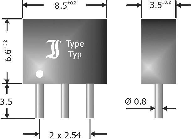 Diódové pole - usmerňovač Diotec DAP208, SIP-3, 2.0 A