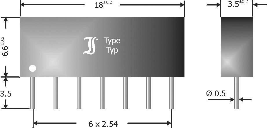 Diódové pole - usmerňovač Diotec DAN601, SIP-7, 100 mA