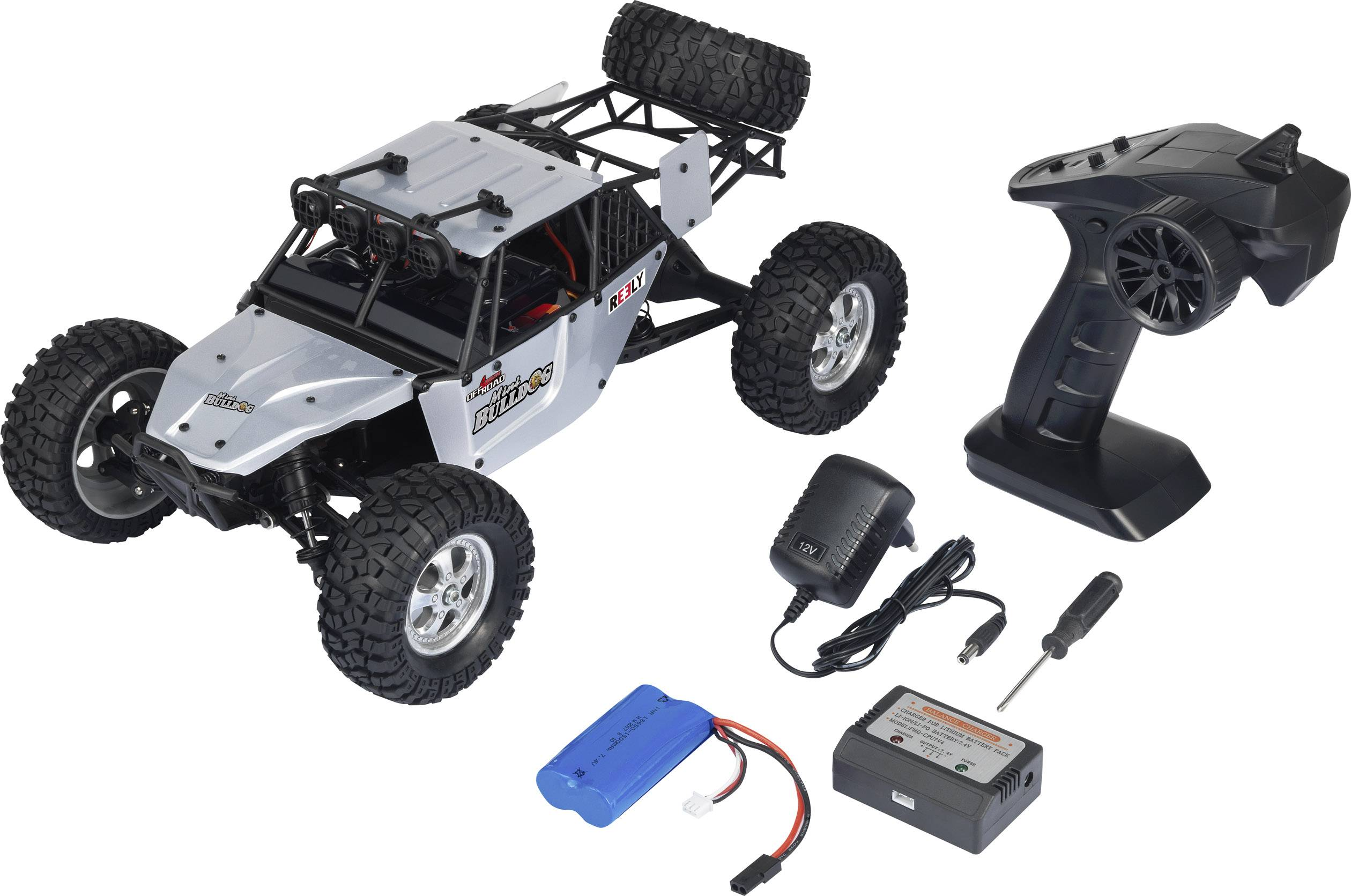 RC model auta Buggy Reely Bulldog Mini, komutátorový, 1:10 XS, 4WD (4x4), RtR, 25 km/h