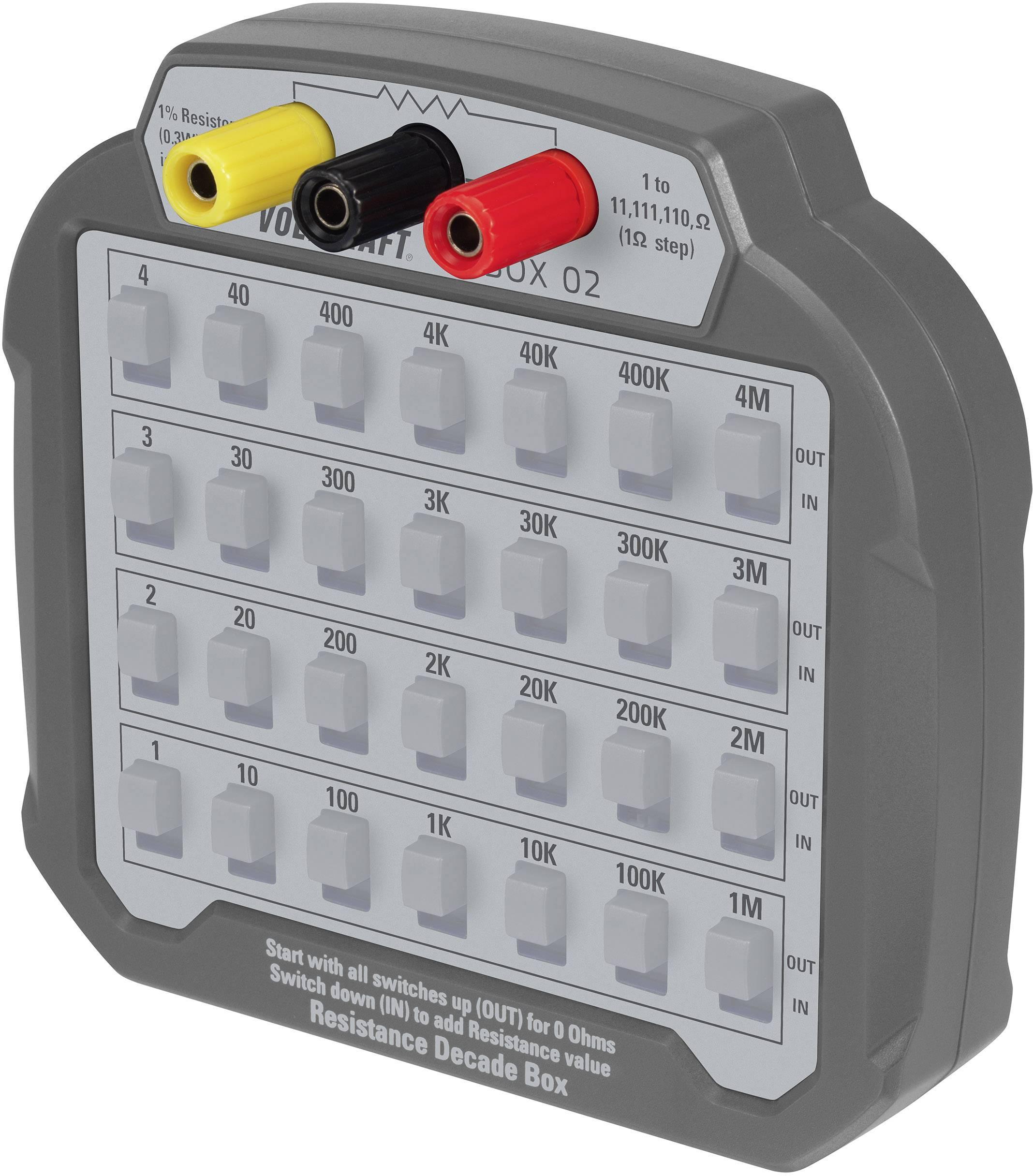 VOLTCRAFT R-BOX 02 Mess-Dekade, 1 až 10 M Ohm 60 V/DC