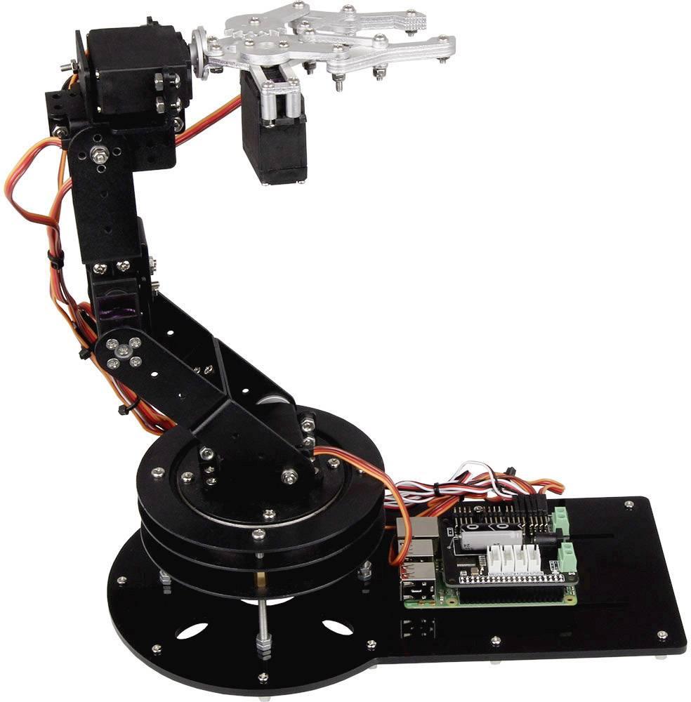 Súprava robotickej ruky Joy-it RB-Robo-Set s mini PC Raspberry Pi® 3 Model B, 1 GB a príslušenstvom, pre školy