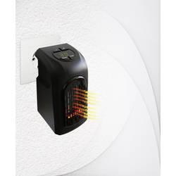 Teplovzdušný zásuvkový ventilátor Livington M11288 M11288, 20 m², 370 W, černá