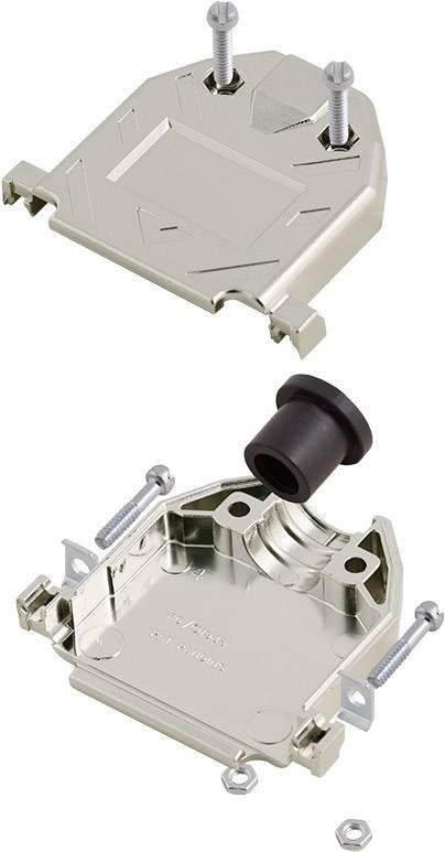 D-SUB pouzdro encitech DTNT37-M-K 1060-0105-04, pólů 37, plast, pokovený, 180 °, stříbrná, 1 ks