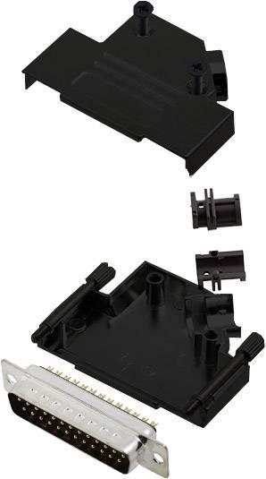 Sada D-SUB kolíkové lišty encitech D45ZK25-BK-DBP-K, 45 °, pólů 25, pájecí kalíšek, 1 ks
