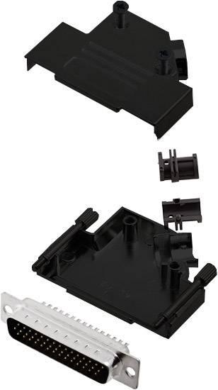 Sada D-SUB kolíkové lišty encitech D45ZK25-BK-HDP44-K, 45 °, pólů 44, pájecí kalíšek, 1 ks