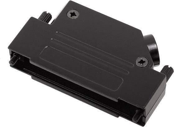D-SUB pouzdro encitech D45ZK37-BK-K 6560-0116-14, pólů 37, 45 °, černá, 1 ks