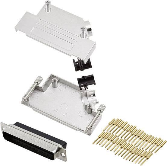 Sada D-SUB kolíkové lišty encitech D45ZK37-DBCP-K, 45 °, pólů 37, krimpované připojení, 1 ks
