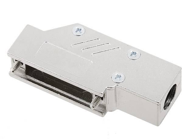 D-SUB pouzdro encitech DCMR15-ULP 1060-0135-02, pólů 15, 90 °, stříbrná, 1 ks