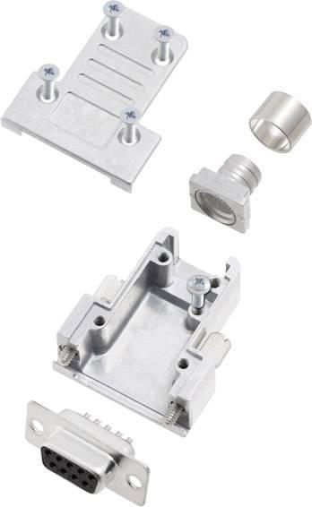 Sada D-SUB zásuvková lišta encitech DCRP09-DBS-CF65-CS80-K, 180 °, pólů 9, pájecí kalíšek, 1 ks