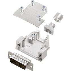 Sada D-SUB kolíkové lišty encitech DCRP15-DBP-CF65-CS80-K, 180 °, pólů 15, pájecí kalíšek, 1 ks