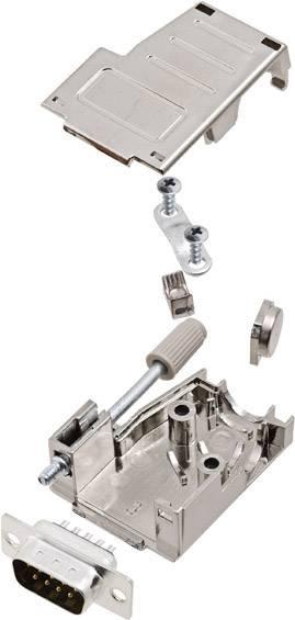 Sada D-SUB kolíkové lišty encitech DSSK09-M-DMP-K, 45 °, 180 °, pólů 9, pájecí kalíšek, 1 ks