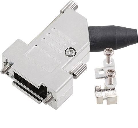 D-SUB pouzdro encitech DTSL09-RG-LJS-S-K 6560-0248-31, pólů 9, 45 °, stříbrná, 1 ks