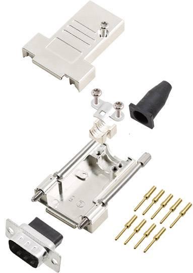 Sada D-SUB kolíkové lišty encitech DTSL09-T-JSRG-DBCP09-K, 45 °, pólů 9, krimpované připojení, 1 ks