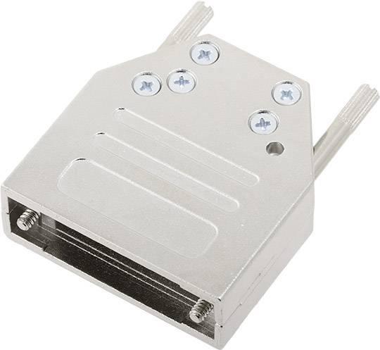D-SUB pouzdro encitech DTZI15-K 6560-0305-02, pólů 15, 180 °, stříbrná, 1 ks