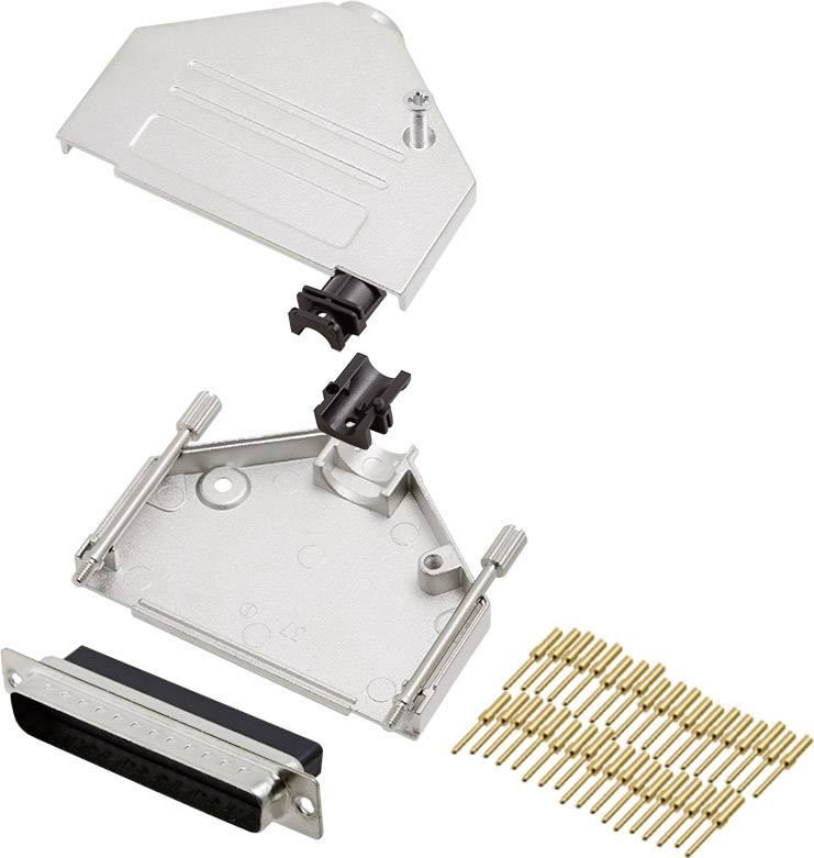 Sada D-SUB kolíkové lišty encitech DTZK37-DBCP-K, 180 °, pólů 37, krimpované připojení, 1 ks