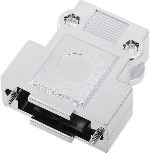 D-SUB pouzdro encitech DFCK 15-M-K 1520-0105-02, pólů 15, plast, pokovený, 180 °, stříbrná, 1 ks