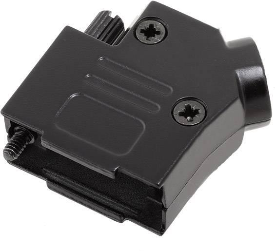 D-SUB pouzdro encitech D45ZK09-BK-K 6560-0116-11, pólů 9, 45 °, černá, 1 ks
