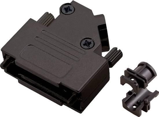 D-SUB pouzdro encitech D45ZK15-BK-K 6560-0116-12, pólů 15, 45 °, černá, 1 ks