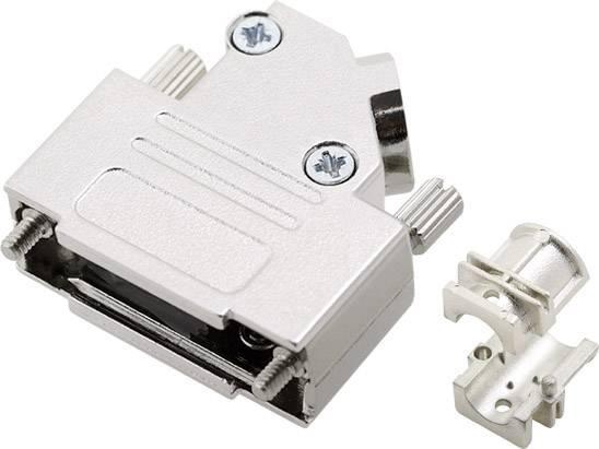 D-SUB pouzdro encitech D45ZK15HI-K 6560-0706-12, pólů 15, 45 °, stříbrná, 1 ks