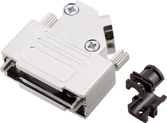 D-SUB pouzdro encitech D45ZK-15-K 6560-0106-12, pólů 15, 45 °, stříbrná, 1 ks