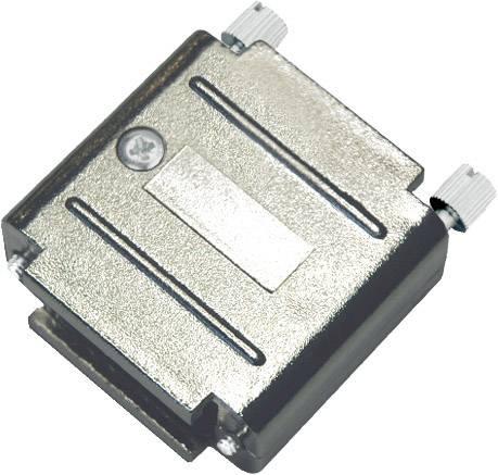 D-SUB pouzdro adaptéru encitech DAPK15-JS/MET 6211-0100-42, pólů 15, plast, pokovený, stříbrná, 1 ks