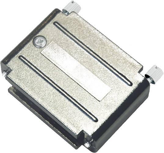D-SUB pouzdro adaptéru encitech DAPK25-JS/MET 6211-0100-43, pólů 25, plast, pokovený, stříbrná, 1 ks
