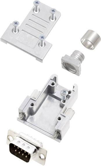 Sada D-SUB kolíkové lišty encitech DCRP09-DBP-CF65-CS80-K, 180 °, pólů 9, pájecí kalíšek, 1 ks