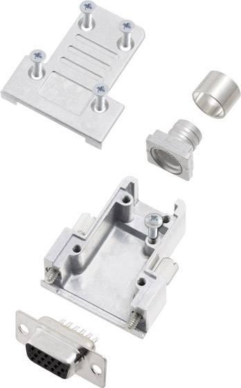 D-SUB zásuvková lišta encitech DCRP09-HDS15-CF65-CS80-K, 180 °, pólů 15, pájecí kalíšek, 1 ks