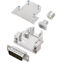 Sada D-SUB kolíkové lišty encitech DCRP15-DMP-CF65-CS80-K, 180 °, pólů 15, pájecí kalíšek, 1 ks
