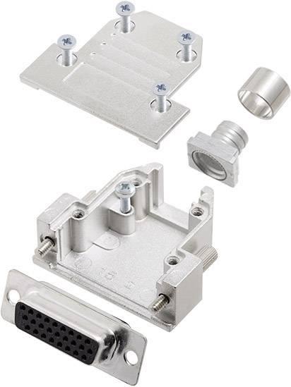 D-SUB zásuvková lišta encitech DCRP15-HDS26-CF65-CS80-K, 180 °, pólů 15, pájecí kalíšek, 1 ks
