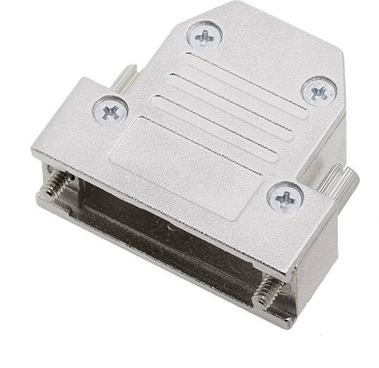 D-SUB pouzdro encitech DCRP15-K 1520-0301-02, pólů 15, 180 °, stříbrná, 1 ks