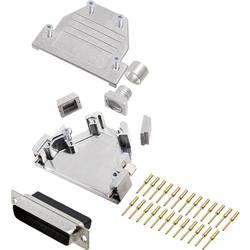 Sada D-SUB kolíkové lišty encitech DCRP25-DBCP-CF65-CS80-K, 45 °, 180 °, 45 °, pólů 25, pájecí kalíšek, 1 ks