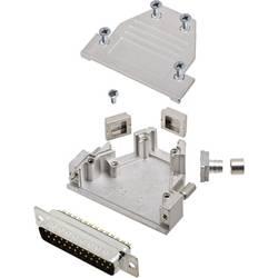 Sada D-SUB kolíkové lišty encitech DCRP25-DBP-CF65-CS80-K, 45 °, 180 °, 45 °, pólů 25, pájecí kalíšek, 1 ks
