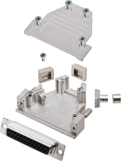 Sada D-SUB zásuvková lišta encitech DCRP25-DBS-CF65-CS80-K, 45 °, 180 °, 45 °, pólů 25, pájecí kalíšek, 1 ks