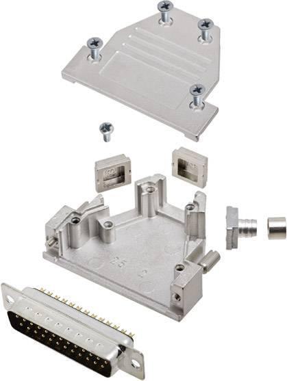 Sada D-SUB kolíkové lišty encitech DCRP25-DMP-CF65-CS80-K, 45 °, 180 °, 45 °, pólů 25, pájecí kalíšek, 1 ks
