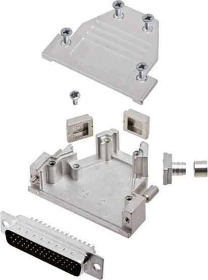 Sada D-SUB kolíkové lišty encitech DCRP25-HDP44-CF65-CS80-K, 45 °, 180 °, 45 °, pólů 44, pájecí kalíšek, 1 ks