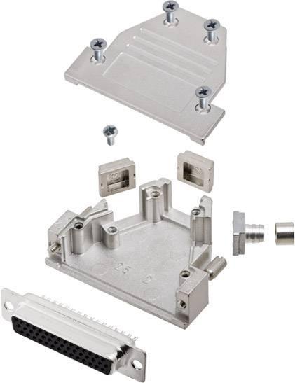 D-SUB zásuvková lišta encitech DCRP25-HDS44-CF65-CS80-K, 45 °, 180 °, 45 °, pólů 25, pájecí kalíšek, 1 ks