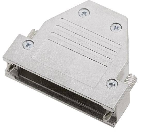 D-SUB pouzdro encitech DCRP25-K 1520-0301-03, pólů 25, 180 °, 45 °, 45 °, stříbrná, 1 ks