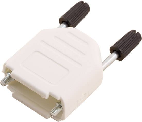 D-SUB púzdro encitech DPPK09-W-K 6353-0107-01, Počet pinov: 9, plast, 180 °, biela, 1 ks