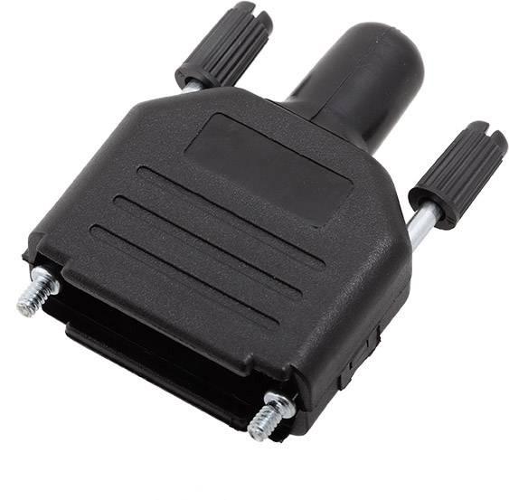 D-SUB pouzdro encitech DPPK15-BK-RG-K 6260-0101-52, pólů 15, plast, 180 °, černá, 1 ks
