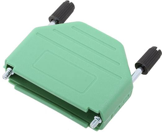 D-SUB pouzdro encitech DPPK25-G-K 6353-0106-03, pólů 25, plast, 180 °, zelená, 1 ks