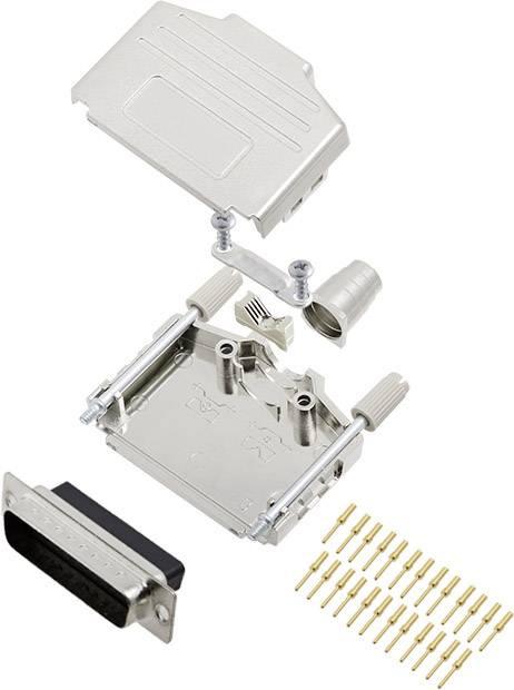 Sada D-SUB kolíkové lišty encitech DPPK25-M-DBCP-K, 180 °, pólů 25, krimpované připojení, 1 ks