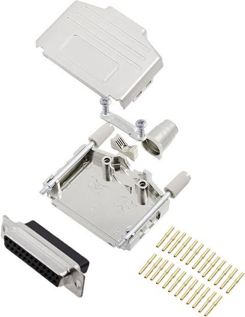 Sada D-SUB zásuvková lišta encitech DPPK25-M-DBCS-K, 180 °, pólů 25, krimpované připojení, 1 ks