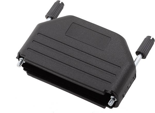 D-SUB púzdro encitech DPPK50-BK-K 6260-0101-05, Počet pinov: 50, plast, 180 °, čierna, 1 ks