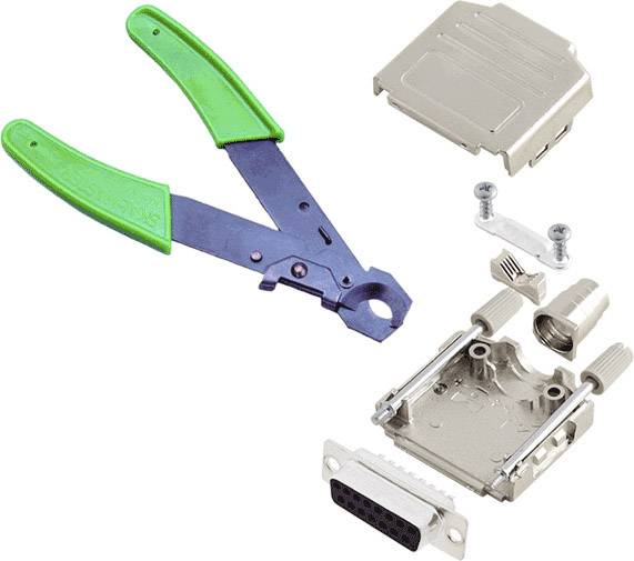 Sada D-SUB zásuvková lišta encitech DPPK-M-25-DBS-CK, 180 °, pólů 25, pájecí kalíšek, 1 ks