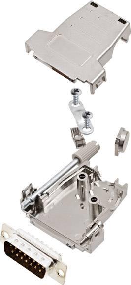 Sada D-SUB kolíkové lišty encitech DSSK15-M-DMP-K, 45 °, 180 °, pólů 15, pájecí kalíšek, 1 ks