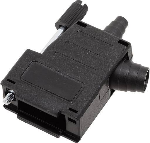 D-SUB pouzdro encitech DSSK-P-09-L+G-K 6260-0107-41, pólů 9, plast, 180 °, 45 °, černá, 1 ks